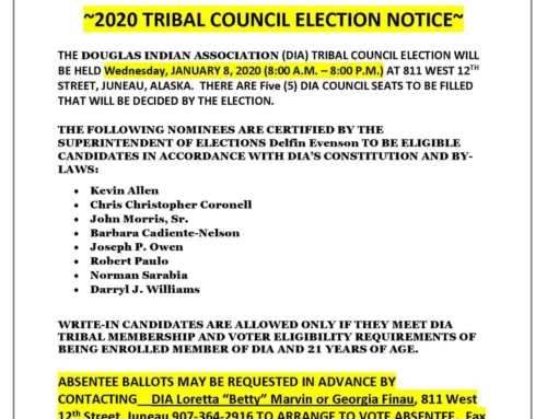2020 TRIBAL COUNCIL ELECTION NOTICE