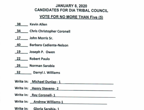 ELECTION NOTICE—- UNOFFICIAL COUNIT is in
