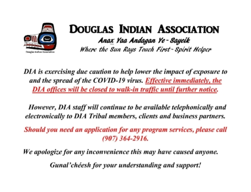 -IMPORTANT NOTICE- DIA will close doors to walk-ins to prevent spread of COVID-19